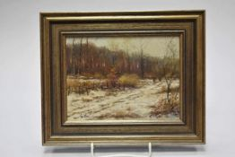 Gernot Rasenberger (geb. 1943) Winterlandschaft mit Figurenstaffage- - -19.00 % buyer's premium on