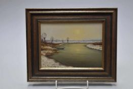 Gernot Rasenberger (geb. 1943) Winterstimmung am Niederrhein- - -19.00 % buyer's premium on the