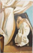 "SORAYA HEUER: ""SLEEPY GODDESS"", Öl auf Leinwand, ungerahmt, signiertSoraya Heuer (*1964). Rechts"