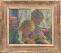 E.W.H. EITNER, TONI UND TOCHTER, Öl auf Karton.Ernst Wilhelm Heinrich Eitner (1867-1955). Links