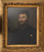 """L. WEIGEL, BÄRTIGER JUNGER MANN, Öl auf Leinwand, gerahmt, signiert, datiert.Signiert und datiert """""""