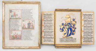 MONOGRAMMIST, Ahnentryptichon der Bannwalder und Abendlied des Meister Johans, Holz/Papier/