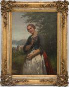 MORITZ PLÄSCHKE, Frauenportrait, Öl/Leinwand, Deutschland, 20. JhMoritz Pläschke (1817- 1888),