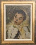 VLADIMIR IGOSHEV, Mädchen aus Mansi, Öl/Platte, 20. JhDer russische Maler Vladimir Igoshev, (1921-