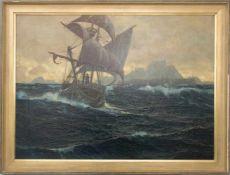 MICHAEL ZENO DIEMER, Aufbruch zur See, Öl/Lw, 20. JhMichael Zeno Diemer (1867 - 1939)Gerahmt und