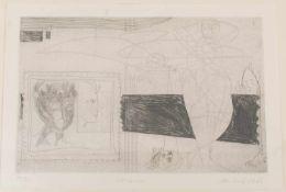 M. Li, Mirror, Radierung, 1966.Hinter Glas gerahmt und in gutem Zustand. links nummeriert 19/30.