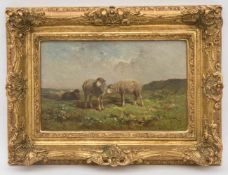 FELIX SATURIN BRISSOT DE WARVILLE, Weidende Schafe, Öl/Leinwand, Frankreich , 19. JhFélix Saturnin