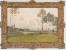 PAUL LECOMTE, Französische Flusslandschaft, Öl/Lw, Deutschland, 19. JhPAUL LECOMTE (1842-1920)Das