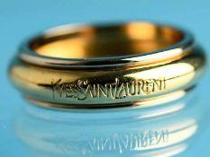 Ring, bezeichnet Yves Saint Laurent, 20. Jh. 750/- Gelbgold. Gesamtgewicht ca. 4,6 g. Stilisierte