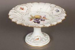 MEISSEN TischetagèrePorzellan, Knaufzeit (um 1890), gewellter Rand, Golddekor im Spiegel und