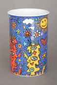 JAMES RIZZI (1950-2011) für ROSENTHAL (Studio line) Vase ¨Be here now¨Art Collection No. 1 (499er