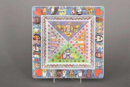 JAMES RIZZI (1950-2011) für ROSENTHAL (Studio line) Teller/Schale ¨Be here now¨Art Collection No.