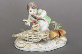 MEISSEN Porzellanfigur ¨Allegorie auf das Wasser¨ aus der Serie ¨Die vier Elemente¨Entwurf J.J.