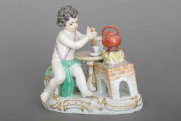 MEISSEN Porzellanfigur ¨Allegorie auf das Feuer¨ aus der Serie ¨Die vier Elemente¨Entwurf J.J.