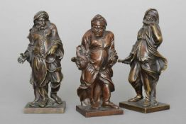 PIERRE LEGROS (1629 Chartres - 1714 Paris) Figurengruppe ¨3 Philosophen¨ Bronze, überwiegend braun