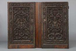 Wohl BENVENUTO (BERNARDINO?) TORTELLI DA BRESCIA (16. Jahrhundert) Zwei Wandfüllungen/