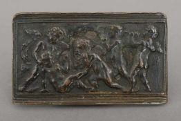 Wohl Umkreis DONATELLO (1386 Florenz - 1466 ebenda) Reliefplakette ¨Spielende Putten¨Bronze,