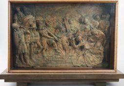 GIAMBOLOGNA (1529 Douai - 1608 Florenz) Stuckrelief ¨Die Kreuztragung¨ aus den ¨6 Passionsszenen¨mit