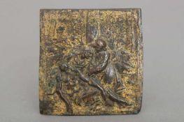 Wohl JAKOB CORNELISZ COBAERT (1580/85 Flandern - 1587 Rom) Bronzeplakette ¨Pietà mit Johannes