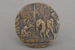 CRISTOFORO FOPPA, gen. CARADOSSO (1445 Mondonico/Italien - 1527 Rom) Reliefplakette ¨Seeufer-Szene¨