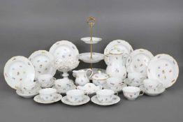MEISSEN Kaffeeservice Porzellan, 2. Hälfte 20. Jhdt., Dekor ¨Streublume¨ mit Goldstaffage, Form ¨