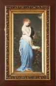 Porzellanbild nach ROBERT JULIUS BEYSCHLAG (1838 Nördlingen - 1903 München)Tempera auf Platte, ¨