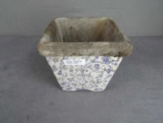 Blumentopf antik blaumalerei ca.20x20cm- - -20.00 % buyer's premium on the hammer price19.00 % VAT