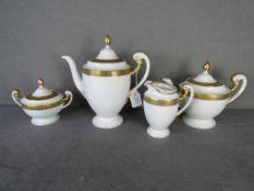 Kaffee bzw. Teekern Hersteller Bohemia Modell Empire vier Teile- - -20.00 % buyer's premium on the