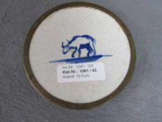 Antike Fliese umgearbeitet als Untersetzter Durchmesser 12,5cm- - -20.00 % buyer's premium on the
