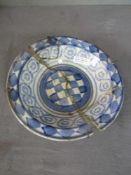 Antiker Keramikteller schlecht restauriert geschätzt 1700 Durchmesser 28cm- - -20.00 % buyer's