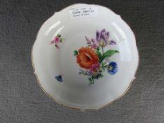 Kleine Meissen Anbietschale Blumendekor Knaufzeit 1. Wahl 18cm Durchmesser- - -20.00 % buyer's