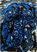 Troia, Luigi. 1956 Palermo - MünchenOhne Titel. Tuschzeichn. 76 x 52,5 cm. Verso auf einem Aufkleber