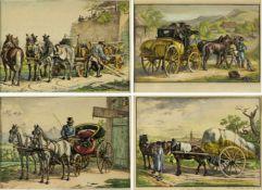 Klein, Johann Adam. 1792 Nürnberg - München 1875Retourgelegenheit nach Wien. Sächsisches Fuhrwerk