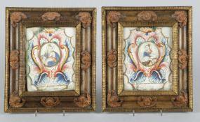Deutsch, um 1800S. Barbara. S Catharina. 2 Gouachen. Bet. 18 x 14 cm. Die Farben sind z.T.