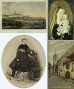 Emminger u.a.Weingarten. Blankenheim. Würzburg u.a. 15 Bll. versch. Techn. Bis 19 x 27,5 cm.