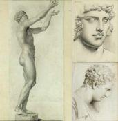 Mauch, J. Langenhoffel, J. Gökel, R. u.a.Darstellungen des Antinous. Putto auf einem Löwen.