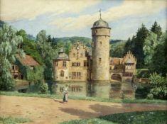 Hock, Adalbert. 1866 - Aschaffenburg - 1949Schloss Mespelbrunn zwischen Aschaffenburg und