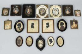 Miniaturen und SchattenrissePortraits und Schattenrisse. 10 Miniaturen. 4 Schattenrisse. Bis 8,5 x 7