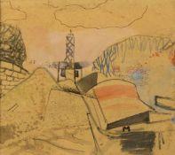 Habermann, Hugo II. von. 1899 Landshut - Murnau 1981Leuchtturm. Aquarell. 23,5 x 27 cm. Auf dem