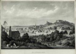 Emminger, Eberhard. 1808 - Biberach - 1885Ellwangen. Lithographie. 40 x 56 cm. Unten mit einem 7