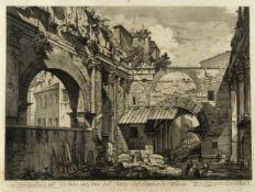 Piranesi, Giovanni-Battista. 1720 - Rom - 1778Veduta interna dell' Atrio del Portico di Ottavia.