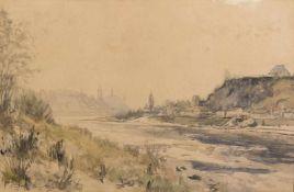Kanka, Rudolf. 1899 Böhm. Leipa - Meissen 1988Meissen an der Elbe. Aquarell über Bleistift. Sign.