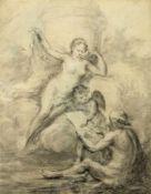 Natoire, Charles-Joseph. 1700 Nimes - Rom 1777. Zugeschrieben Hermes zeichnet eine Göttin.