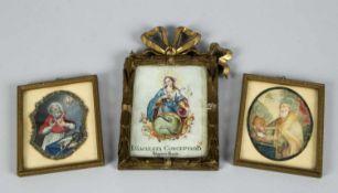 Deutsch, Ende 18. Jh.Maria Immaculata u.a. 3 Bll. versch. Techn. Bis 13,5 x 8,5 cm.