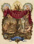 Kretschmer, Johann Hermann. 1811 Anklam - Berlin 1890Dichtung und Malerei (Titelbl. für ein