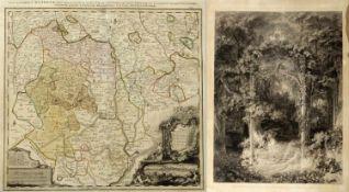 Cogels. Neureuther. Homann u.a.Das Isartor. Das Waldfräulein. Karte des Herzogtums Oettingen u.a. 16