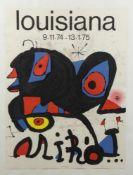 Miró, Joan. 1893 Barcelona - Palma de Mallorca 1983Ausstellungsplakat Louisiana 1974-1975.