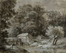Dillis, Johann Georg von. 1759 - München - 1841. Zugeschrieben Wassermühle an einem Bach.