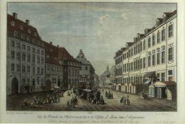 Rosenberg, Johann Georg. 1739 - Berlin - 1808Vue du Marché dit Molckenmarckt, et de l'Eglise St.