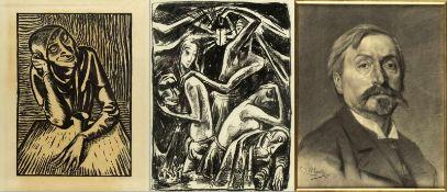 Hofer, Carl. Naager, Franz u.a.Shakespeare Visionen. Bonsoir Madame la Lune u.a. 5 Bll. versch.